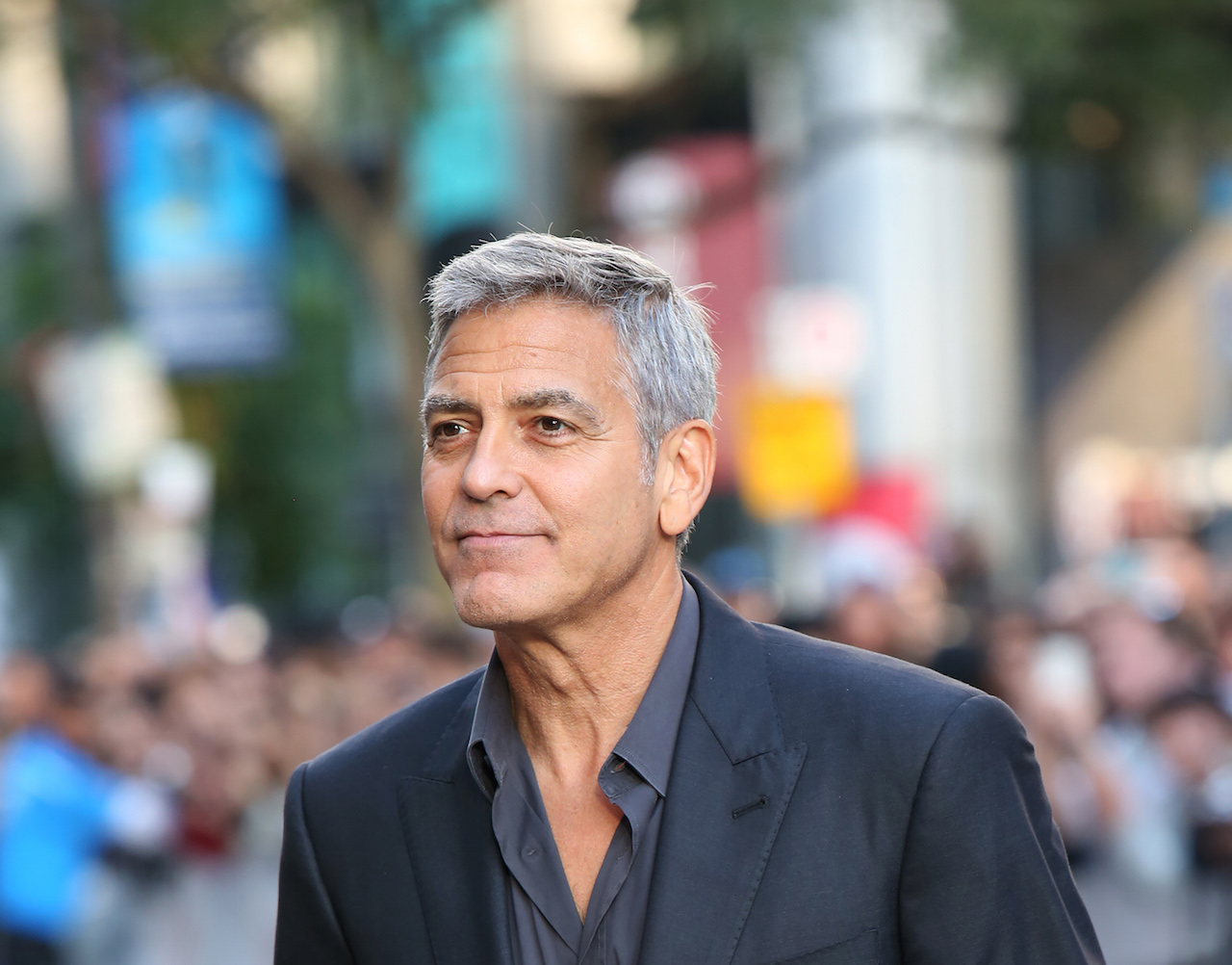 TORONTO, ON - SEPTEMBER 09: George Clooney attends the 'Suburbicon' premiere during the 2017 Toronto International Film Festival at Princess of Wales Theatre on September 9, 2017 in Toronto, Canada. (Photo by Walter McBride/FilmMagic)