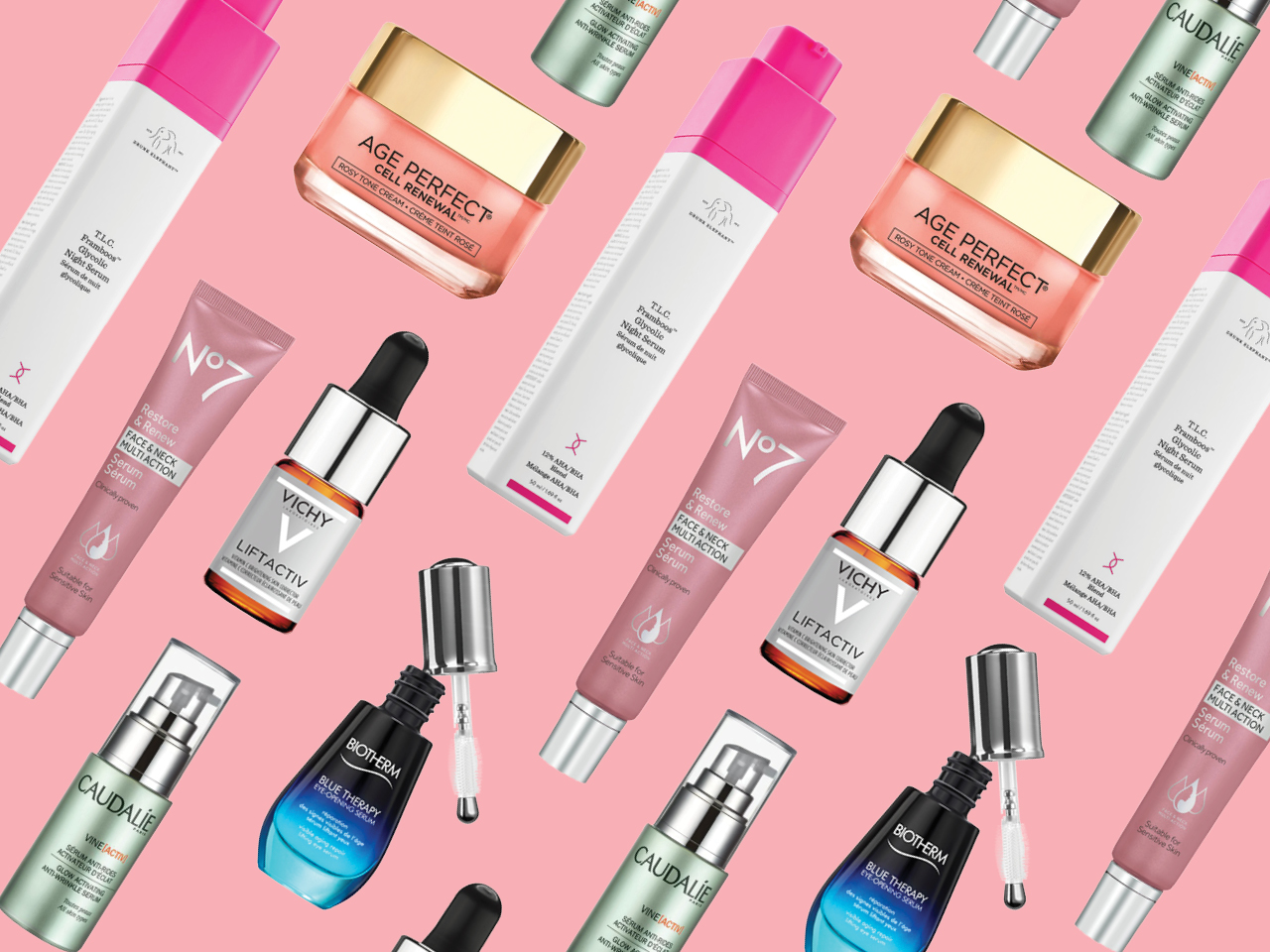 A few of the new anti-aging skincare beauty products