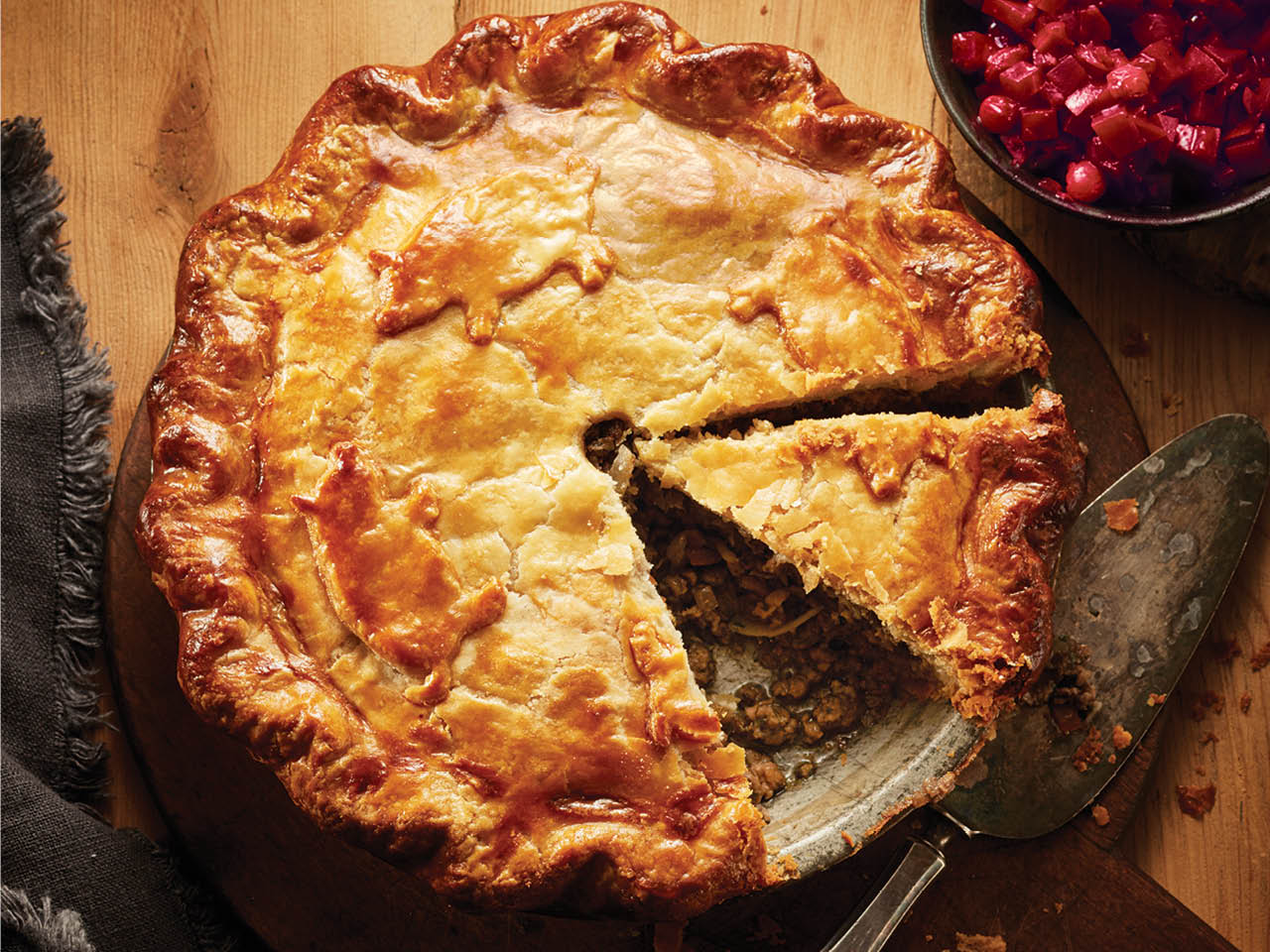 Best Tourtière - with a slice cut out