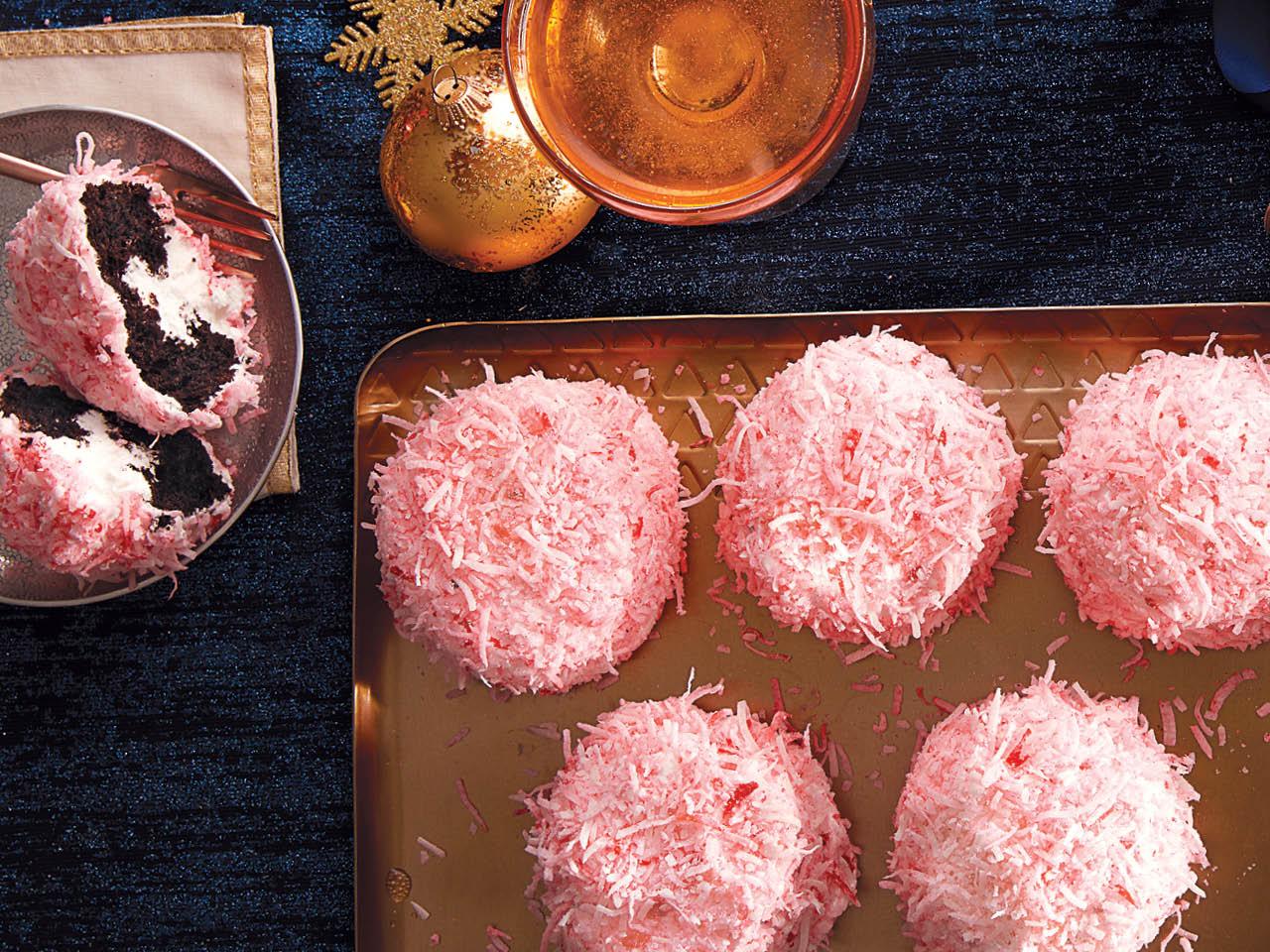 pink coconut snowballs