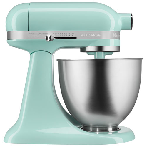 KitchenAid Artisan Mini Stand Mixer in Ice Blue, Canadian Tire, $350 (from $550)