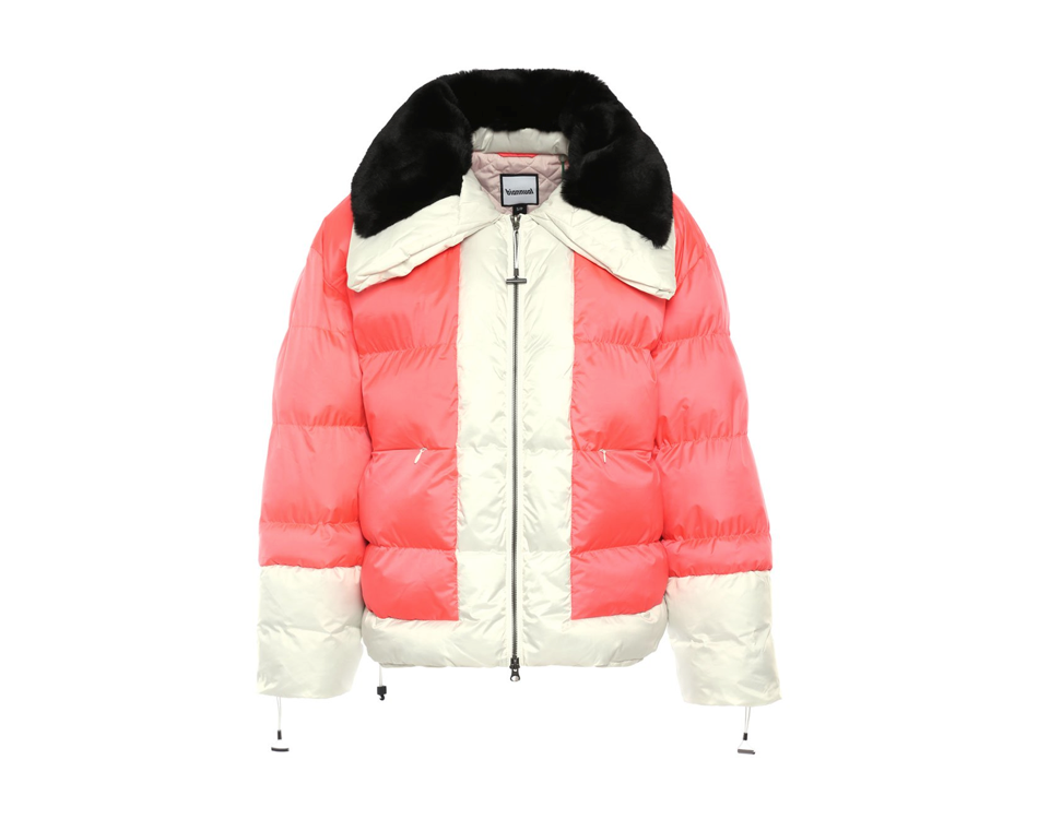 Pink, Black and White Biannual Synthetic Puffer Winter Coat