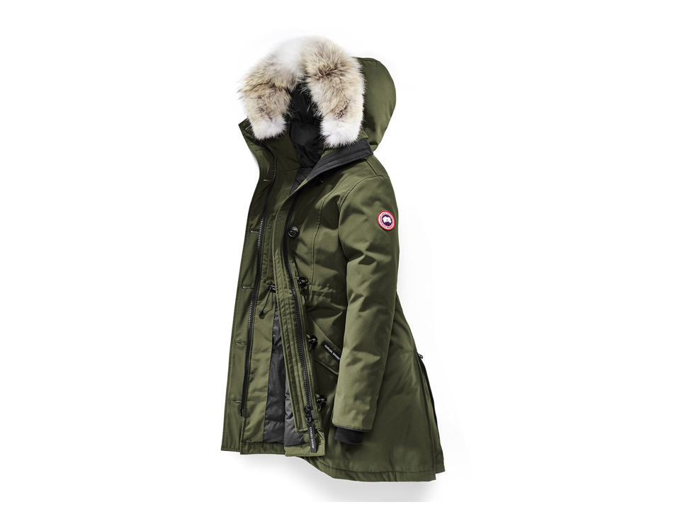 Army Green Canada Goose Down-Filled Winter Coat