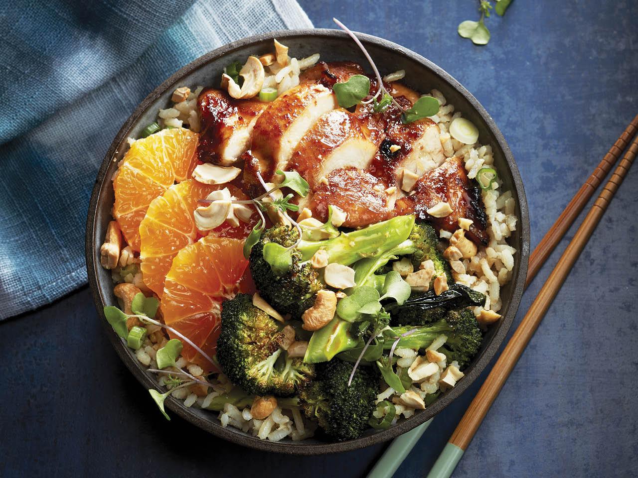 Hoisin chicken rice bowl