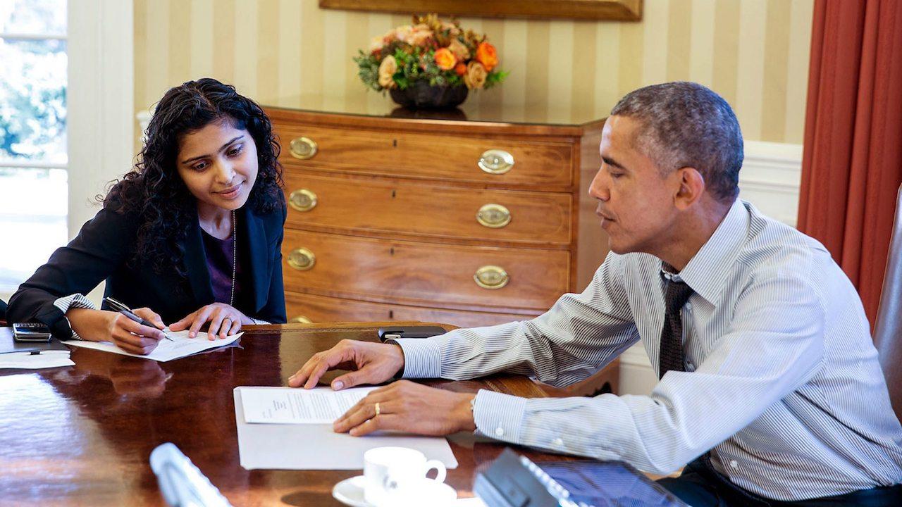 Sarada Peri with Barack Obama