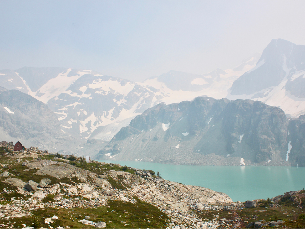 A view of Wedgemount Lake, near Whistler, B.C.