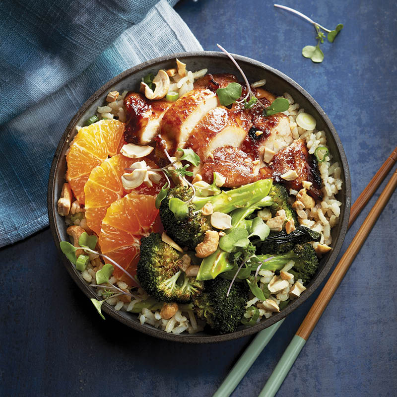 Hoisin chicken rice bowl