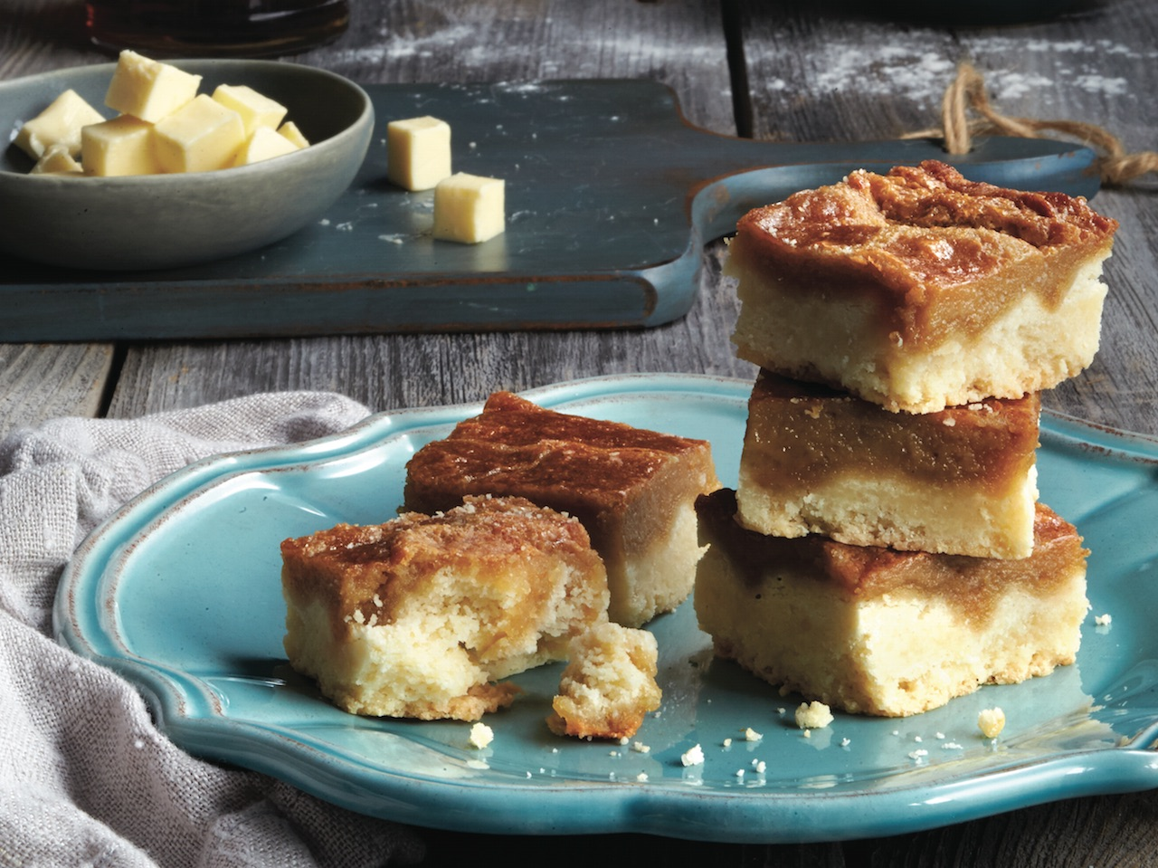 maple squares and cubed butter