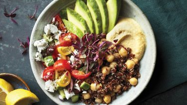 easy quinoa recipes - mediterranean quinoa bowl