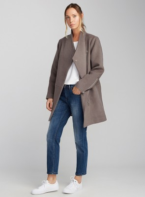 Crossover collar 3/4 coat, Simons, $130 (from $275)