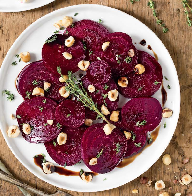 Roasted beet salad with hazelnuts