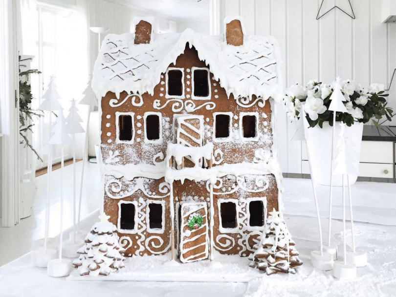 Gingerbread Houses of Instagram: Three-story Gingerbread House