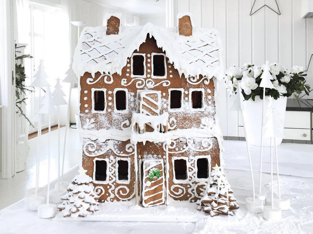 Three-story Gingerbread House