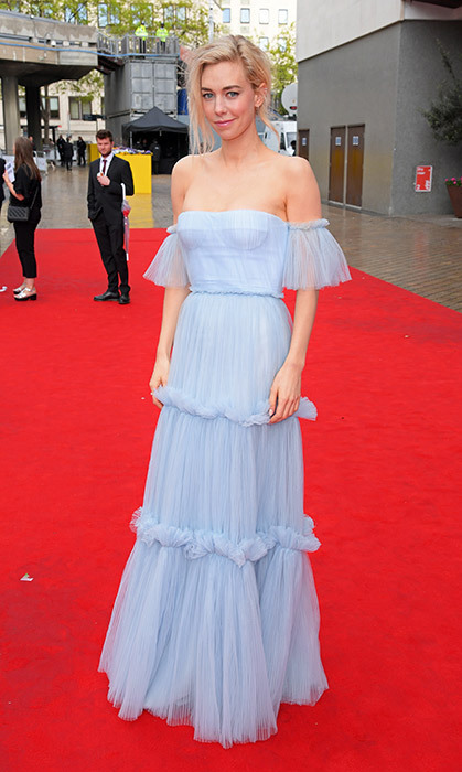 Vanessa Kirby red carpet blue dress