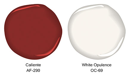 From pleasant pink to caliente the red colour family is - Benjamin moore regal select exterior ...