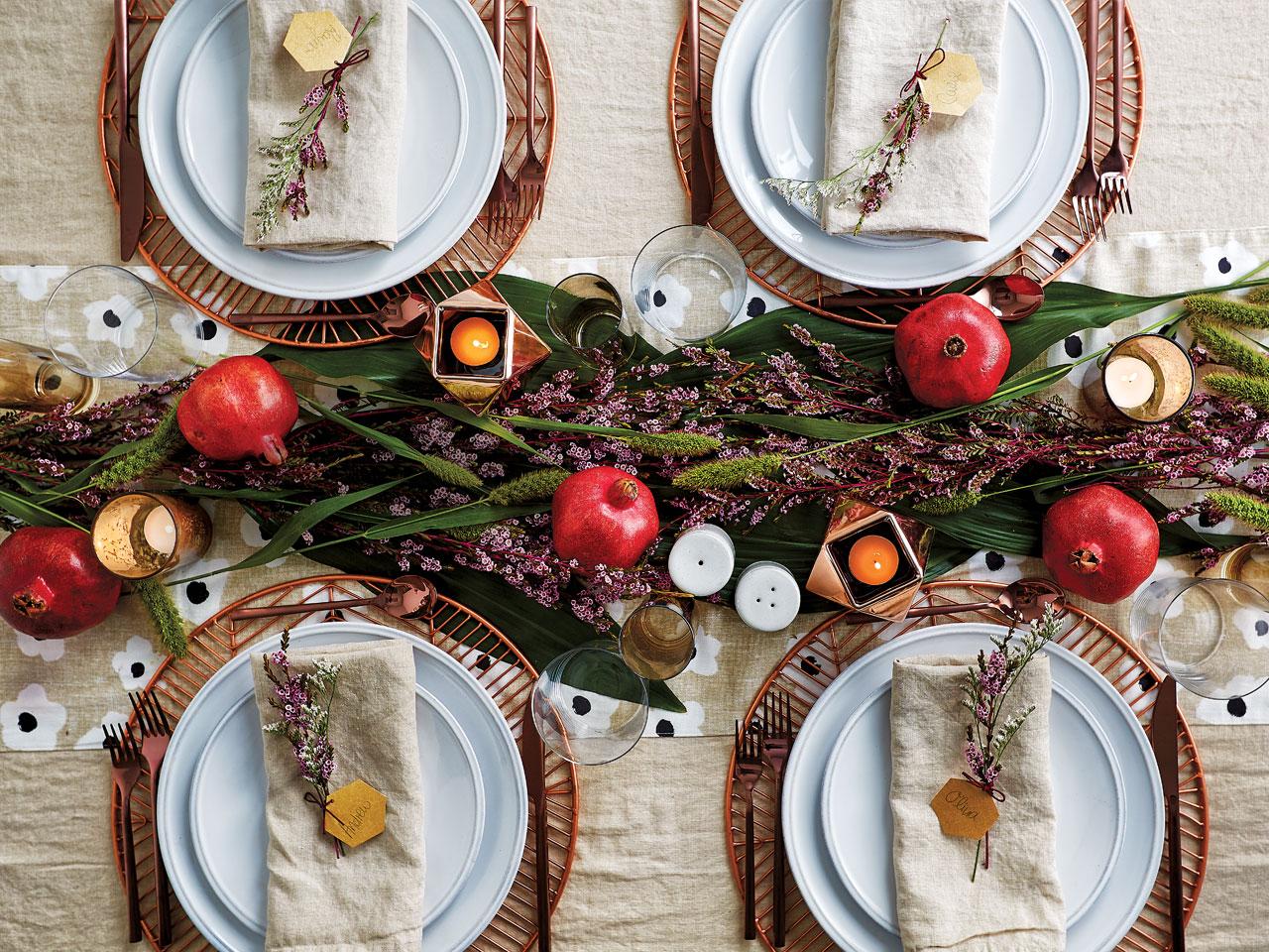 fall winter table settings-table 1