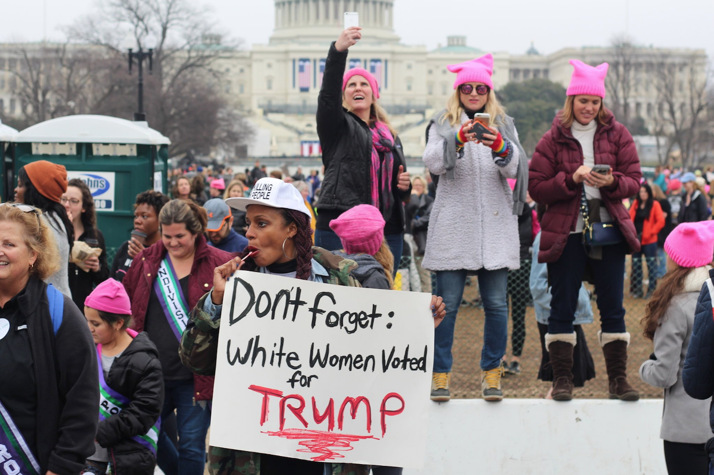 Protesters at the Women's March on Washington.