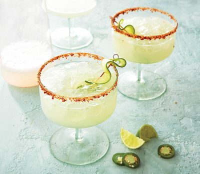 Cucumber jalapeno margarita mocktail recipe