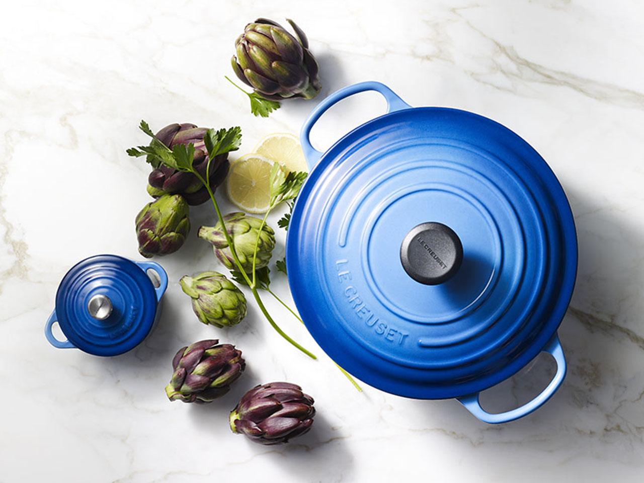 Le Creuset Colours now include this Blueberry Dutch Oven