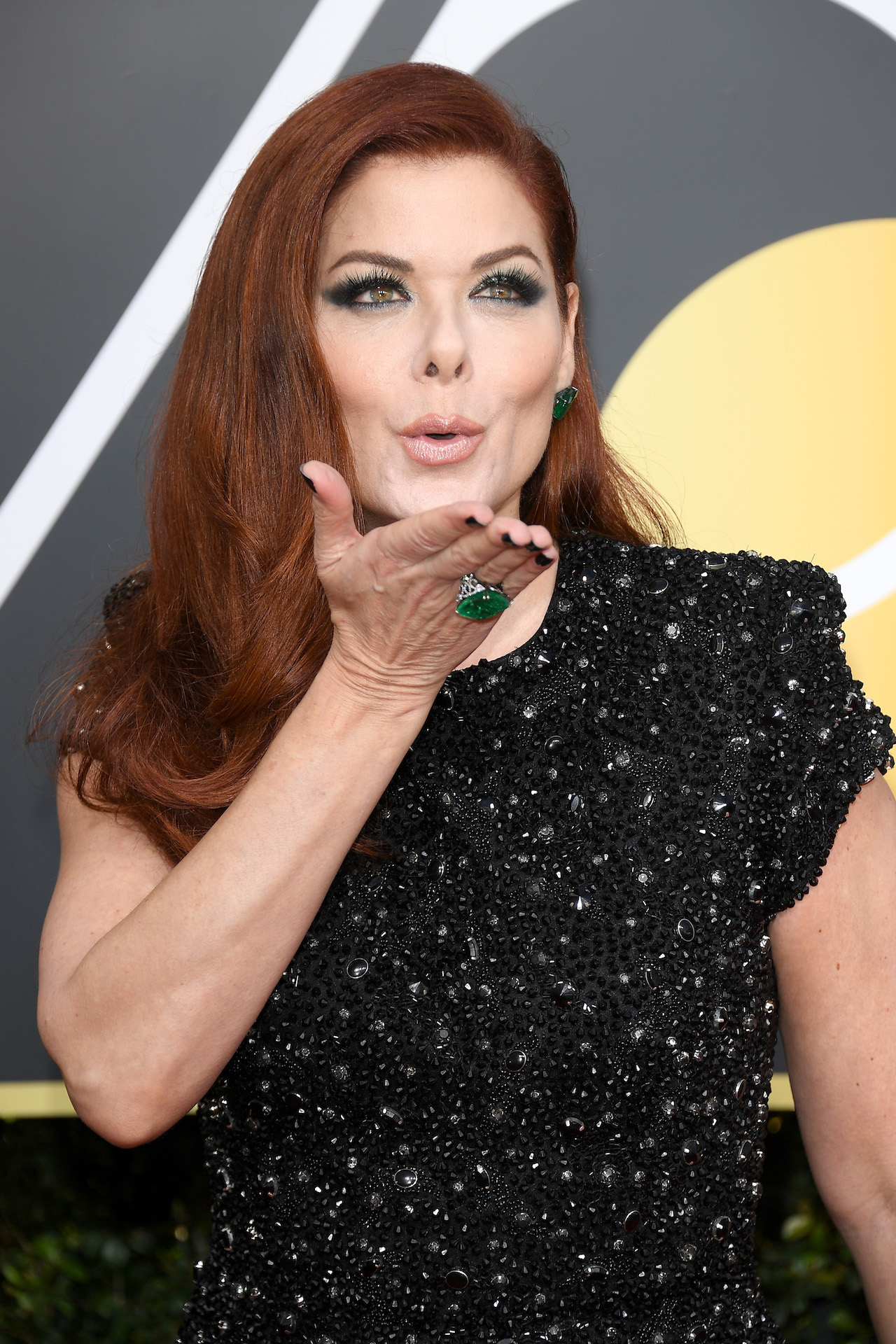 BEVERLY HILLS, CA - JANUARY 07: Actor Debra Messing attends The 75th Annual Golden Globe Awards at The Beverly Hilton Hotel on January 7, 2018 in Beverly Hills, California. (Photo by Venturelli/WireImage)