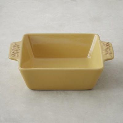 Olive Embossed Stoneware Square Baker in Dijon, Williams Sonoma, $28 (from $35)