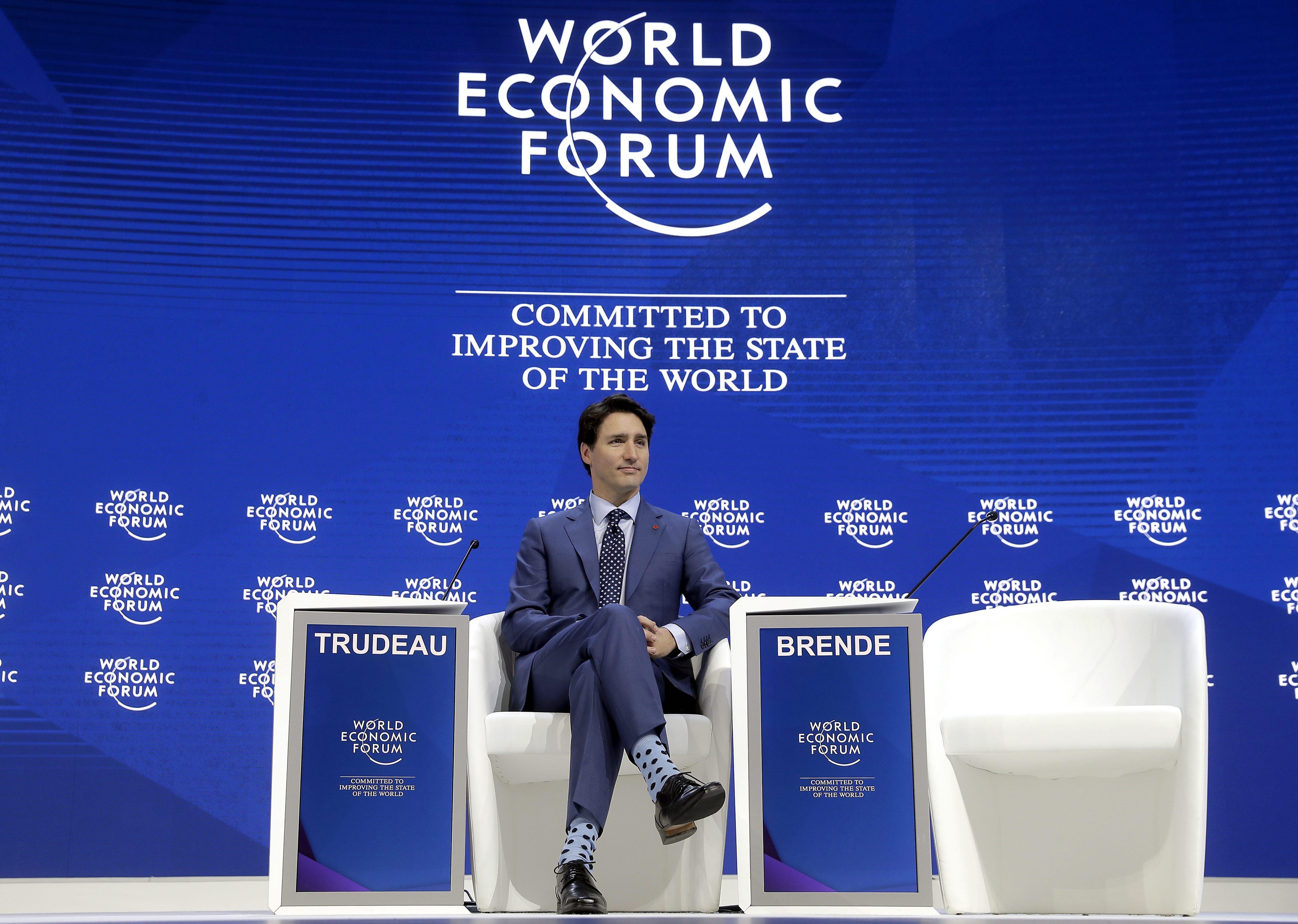 Justin Trudeau Davos