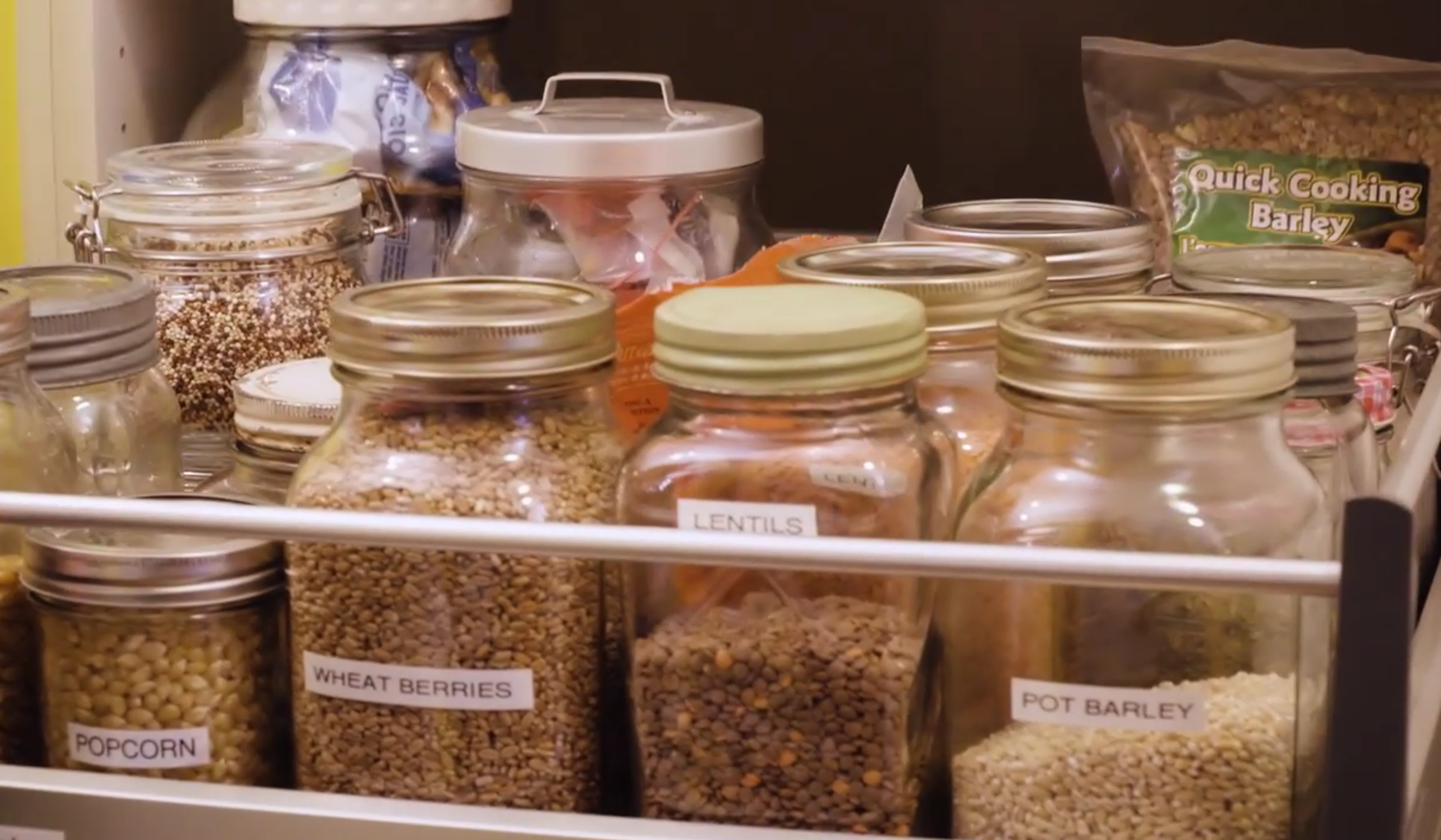 Mairlyn Smith's organized kitchen pantry