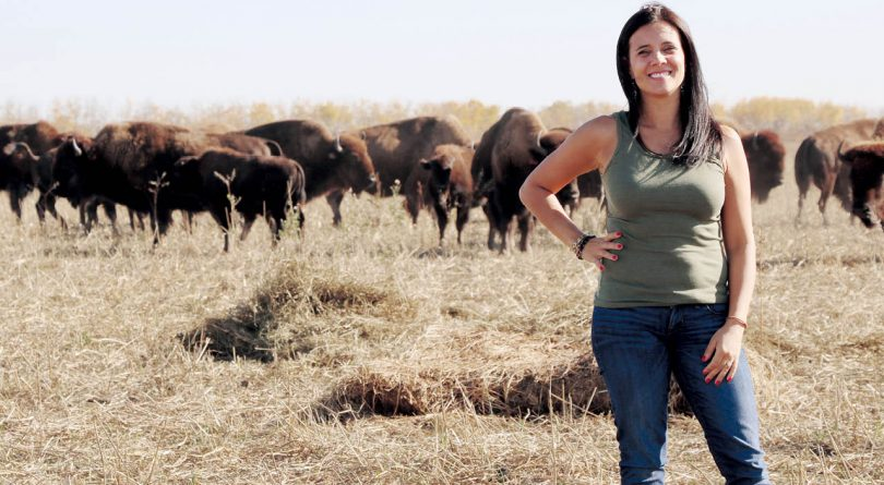 Feast Café Bistro chef Christa Bruneau-Guenther, pictured here in a cattle field