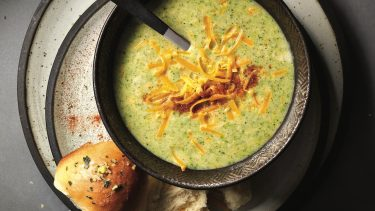 broccoli soup recipe: Creamy broccoli soup with cheddar