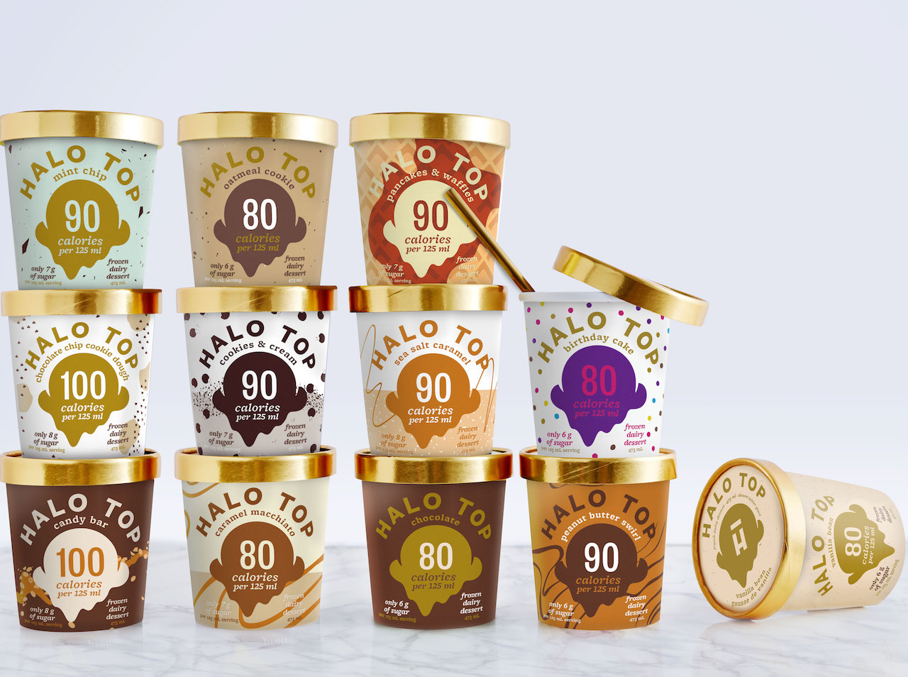 Halo Top Ice Cream Canada - 12 flavours in pint-sized tubs