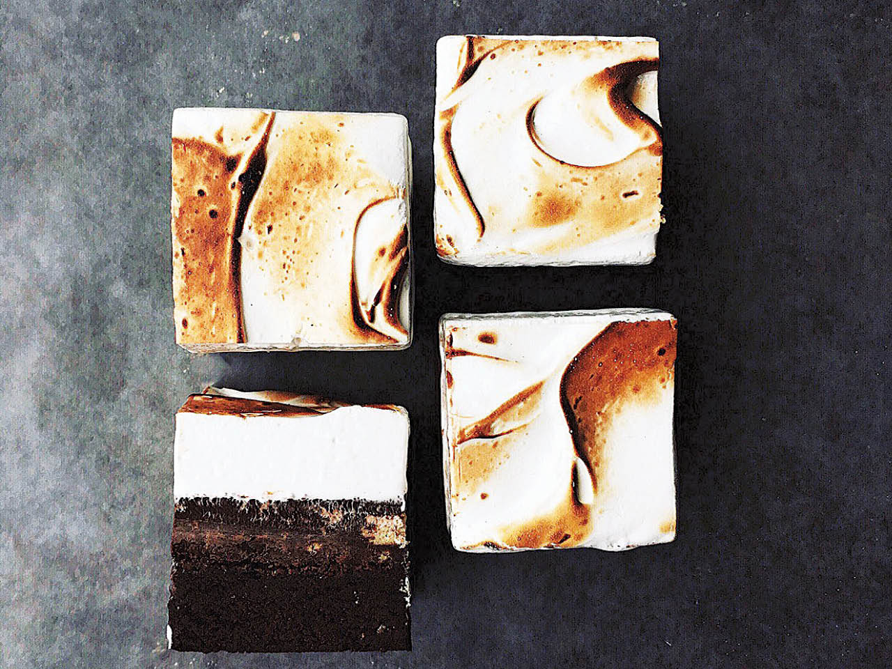 best foodies on instagram- overhead shot of baker tara o'brady's marshmallow brownies