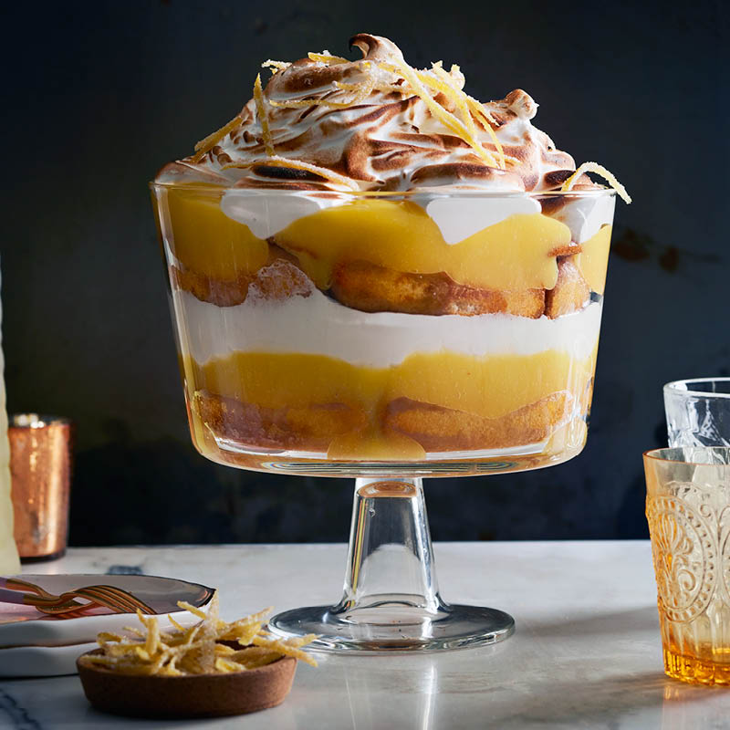 Lemon meringue trifle