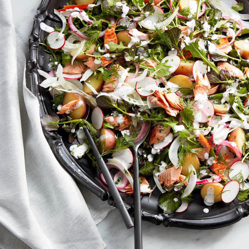 Smoked trout salad with horseradish