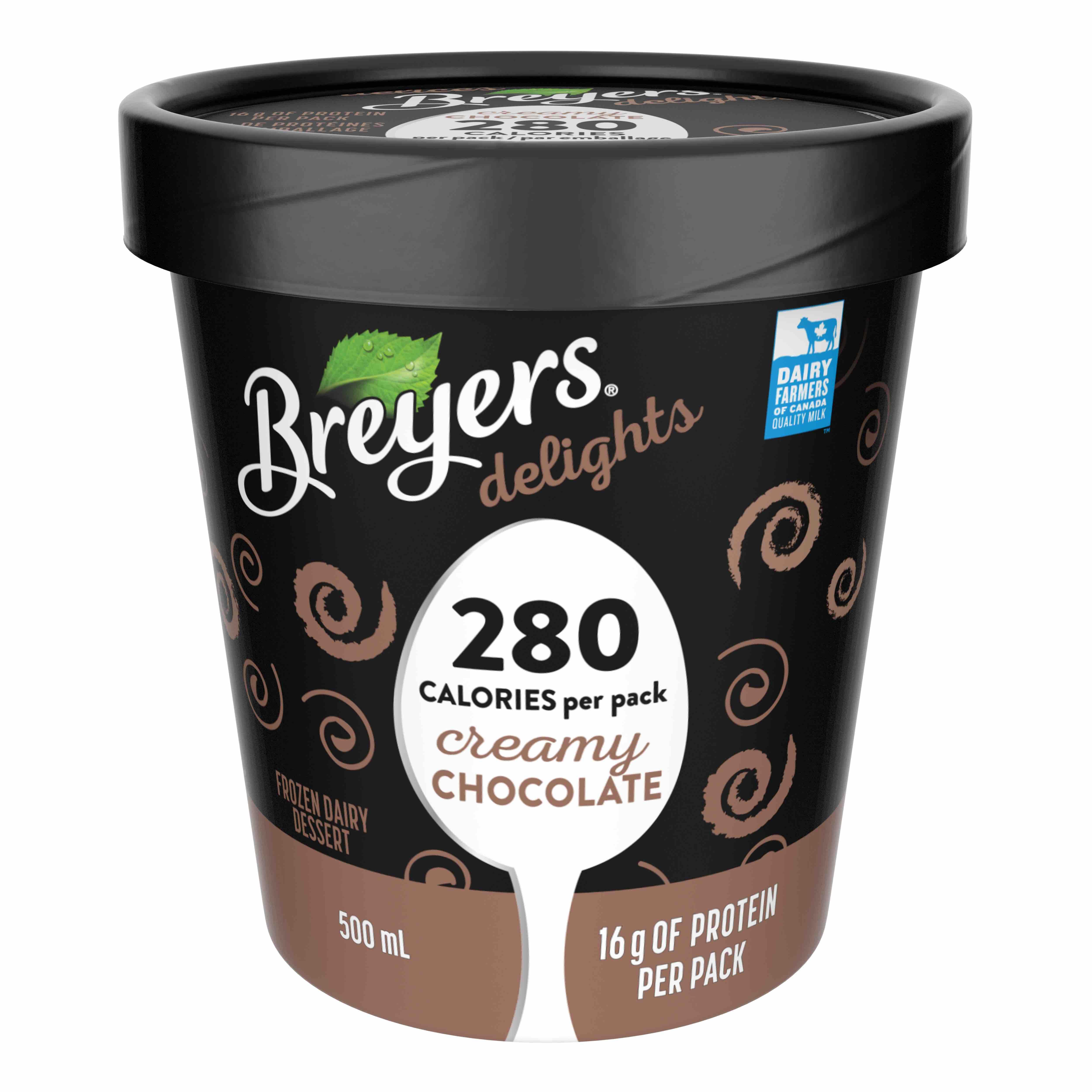 Pint of Breyers Delights chocolate ice cream