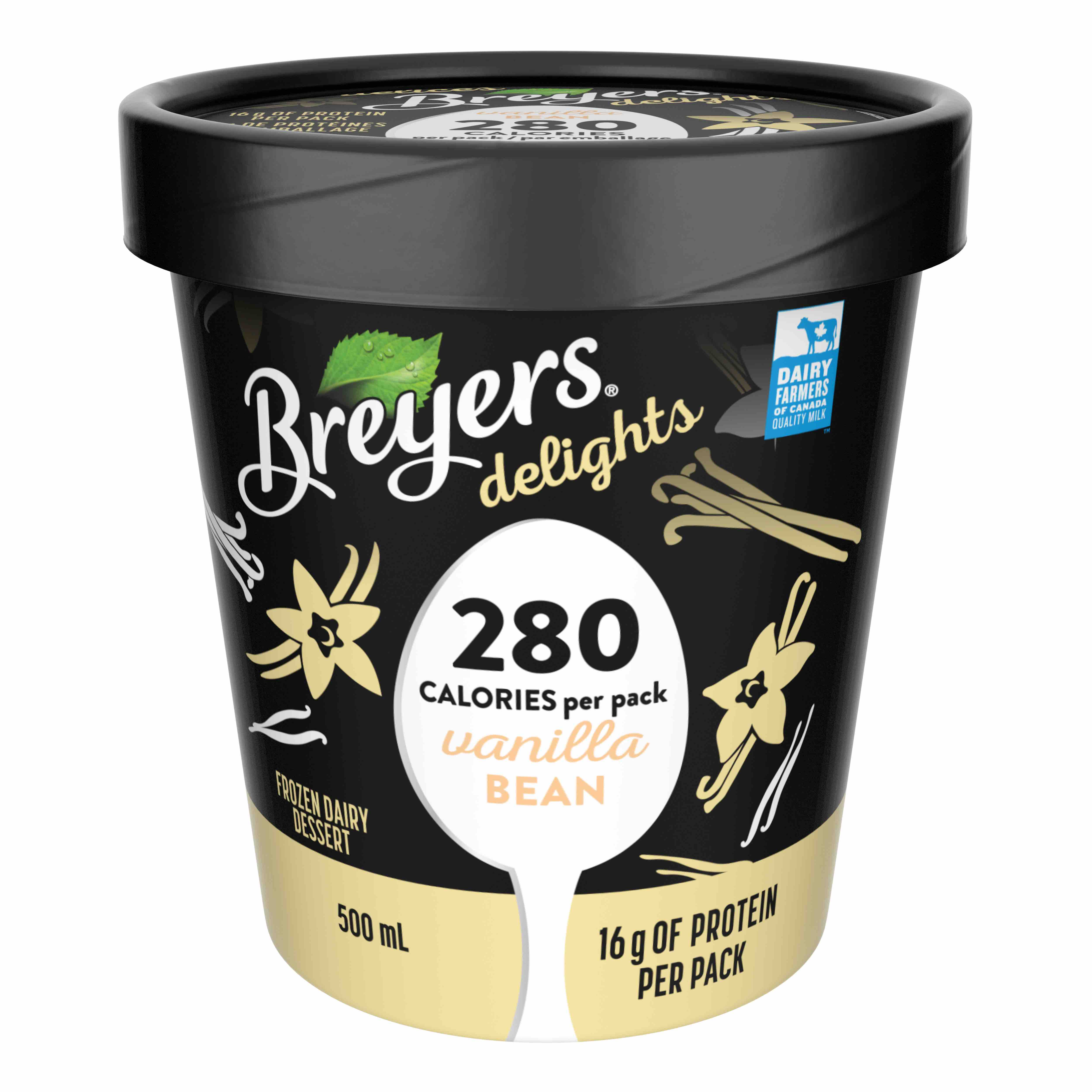 Pint of Breyers vanilla ice cream