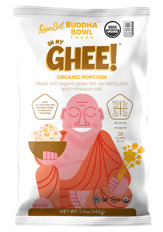 Ghee butter flavoured popcorn.
