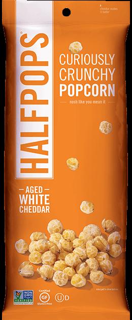 Bag of Half Pops popcorn.
