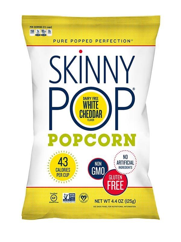 Bag of skinnypop popcorn.