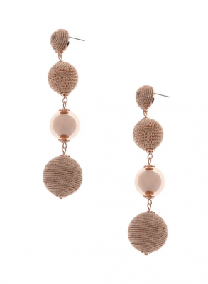 Round Tiered Earrings, Laura, $10 (from $25)