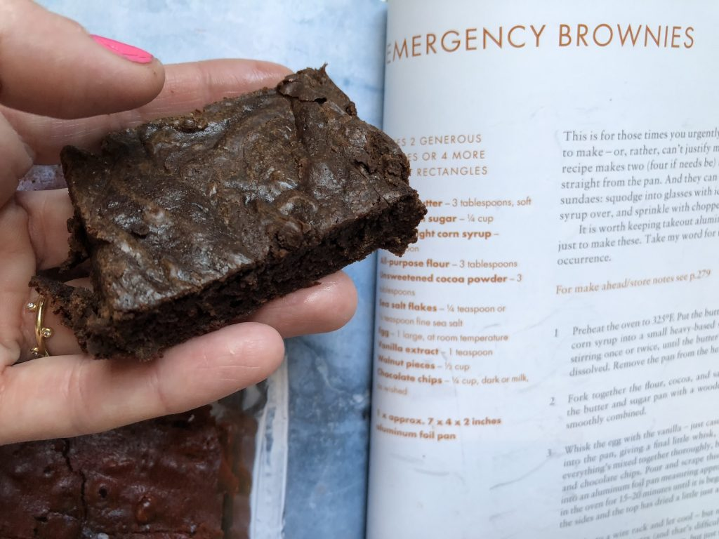 Emergency Brownies recipe from Nigella Lawson's book At My Table