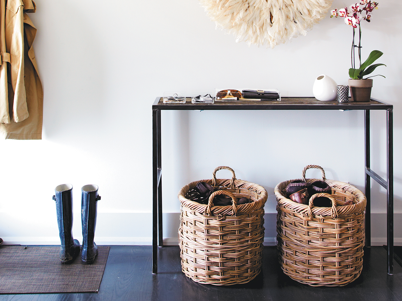1. Always start by purging the things bringing clutter to your space