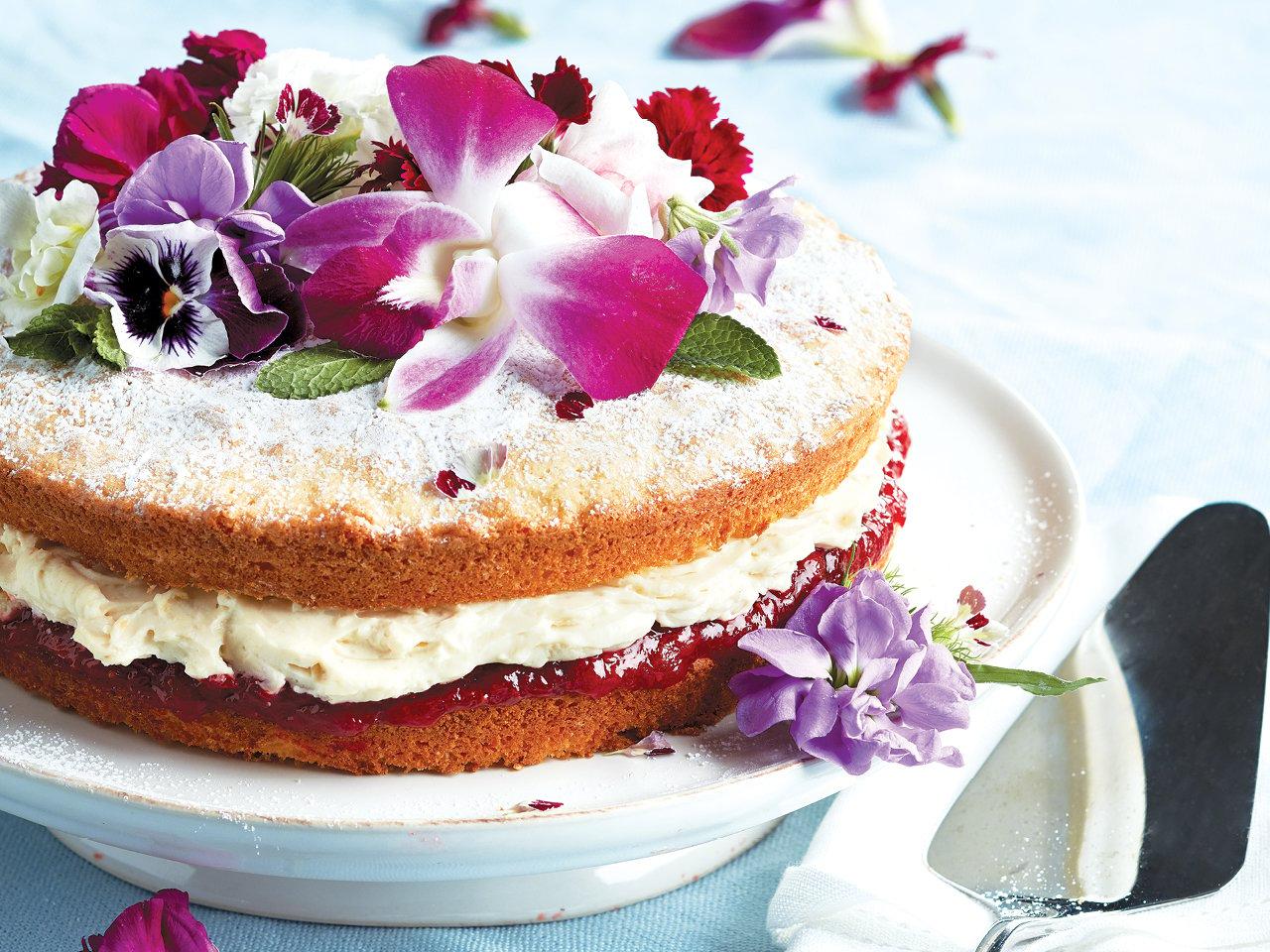 Jam And Cream Victoria Sponge Cake