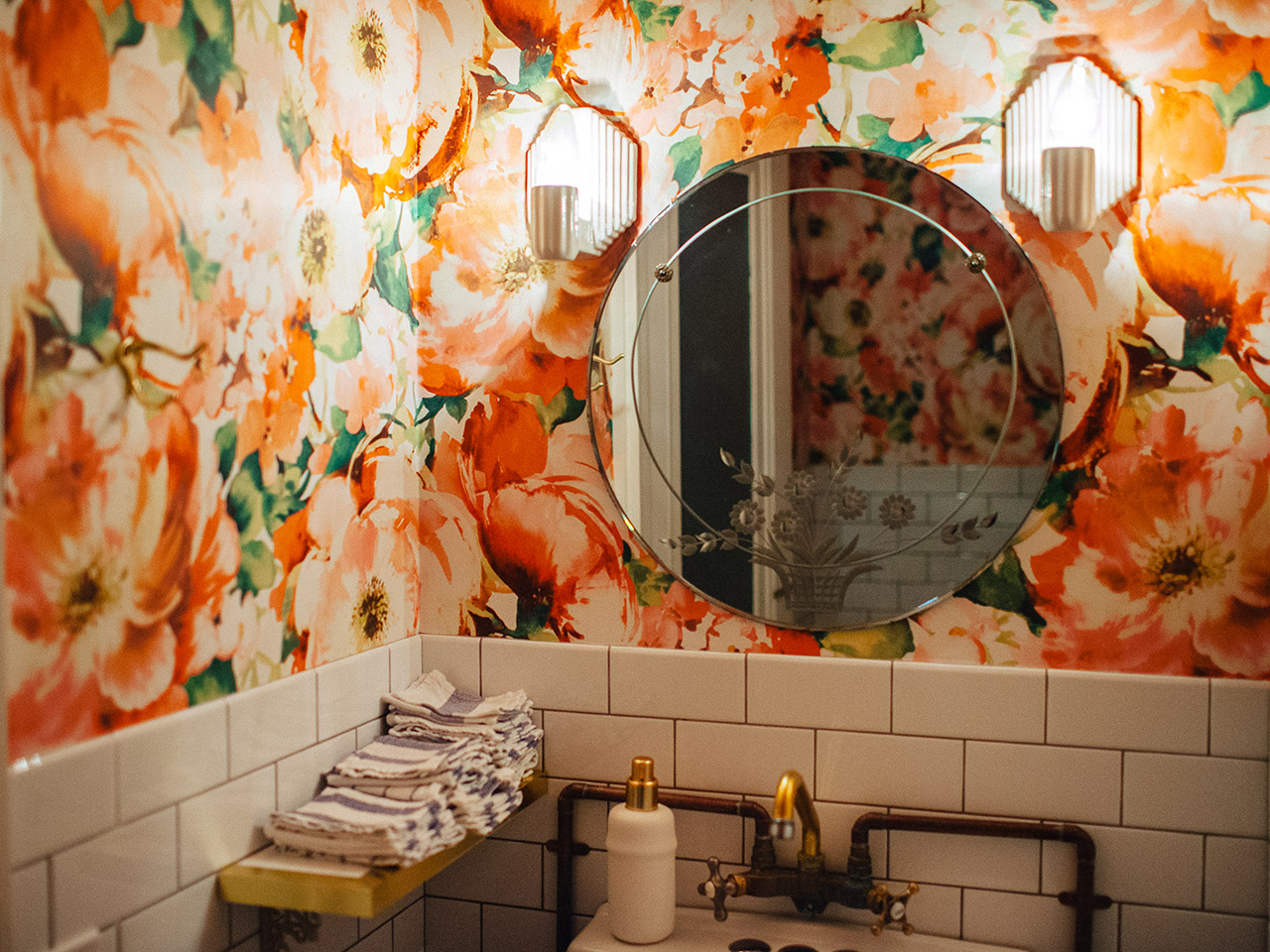 Image of the inside of one of the bathrooms at Grey Gardens in Toronto for the article on best restaurant bathrooms