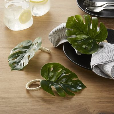 Monstera Leaf Napkin Ring, Crate & Barrel, $4 (from $6)