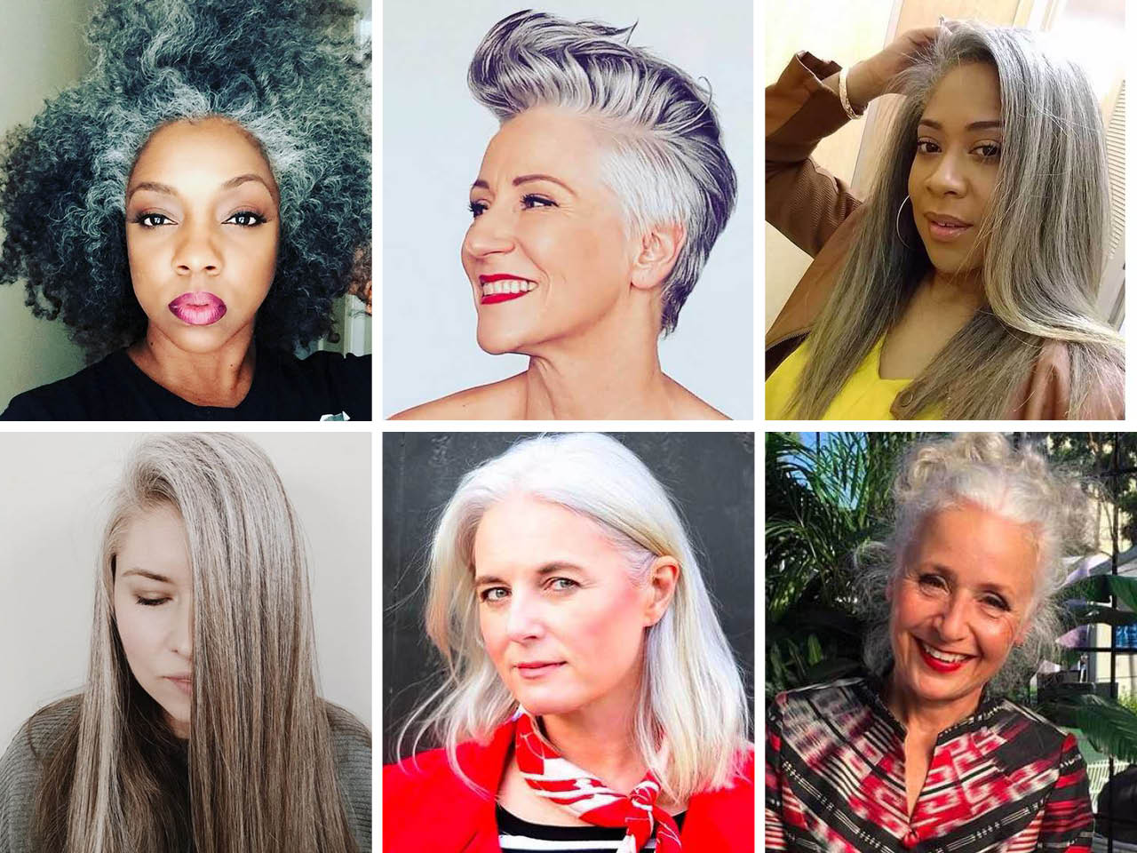 These beautiful women who are embracing their natural hair colour are all the grey hair inspiration you need to go au naturel