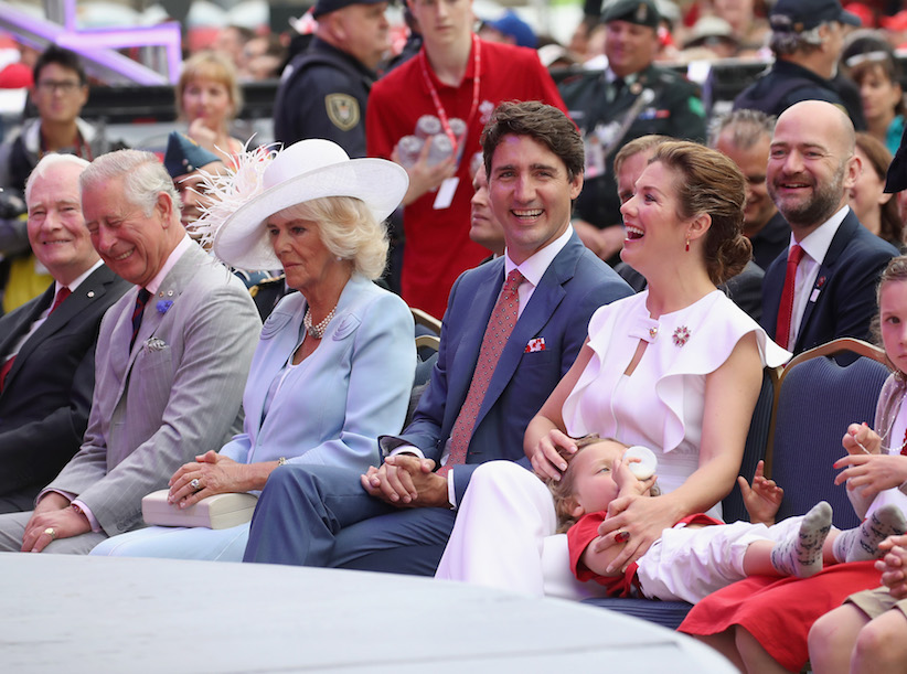 Justin Trudeau, Prince Charles, Camilla and Sophie