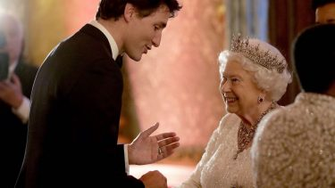 Justin Trudeau makes the Queen smile