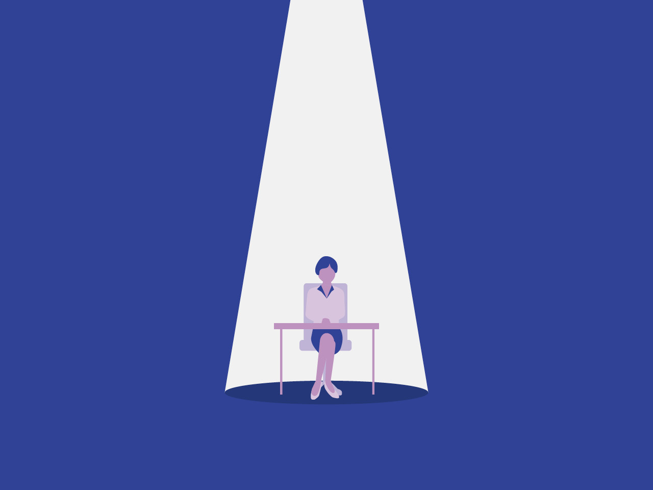 loneliness feature image- a cartoon minister sits alone at a table on a blue background