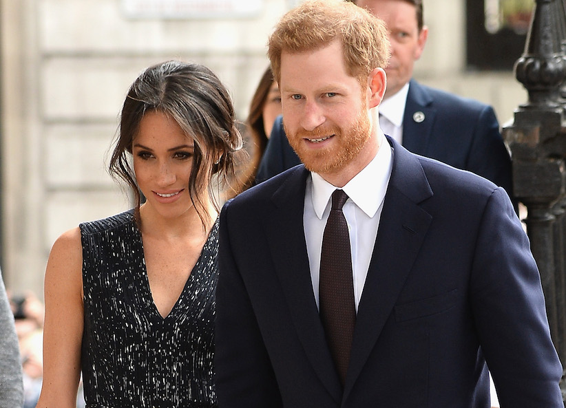 Meghan Markle messy bun and prince Harry