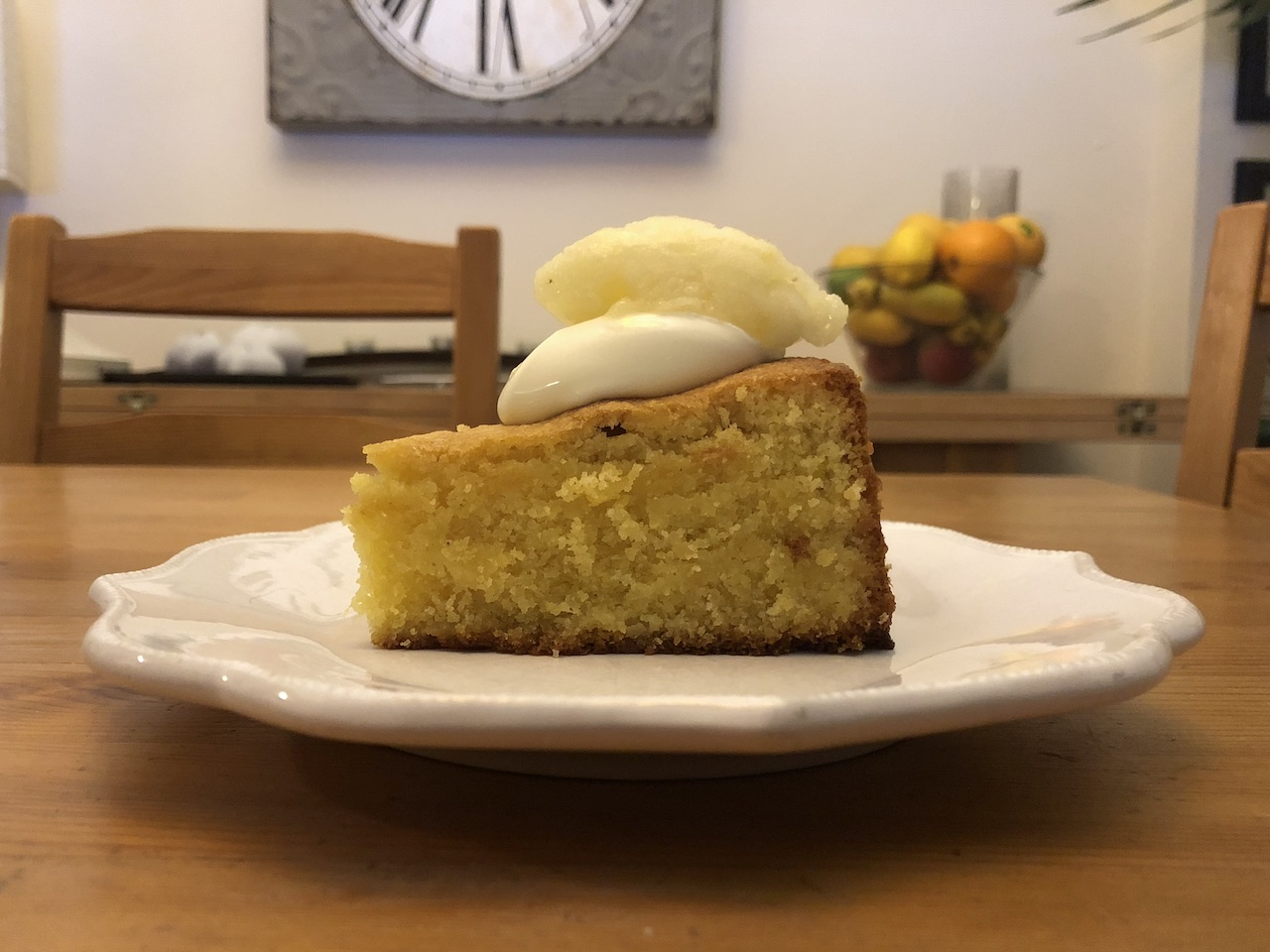 polenta and almond lemon cake - The River Cafe Cookbook